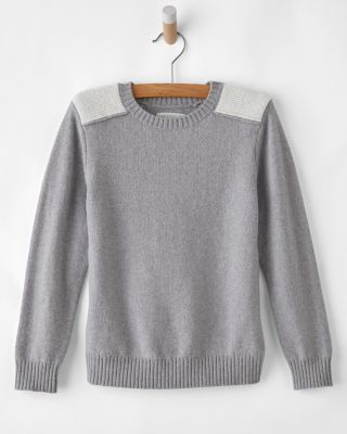 Boys' Shoulder-Detail Sweater