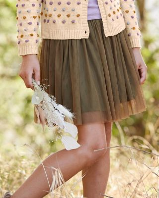 Girls' Layered Tulle Skirt