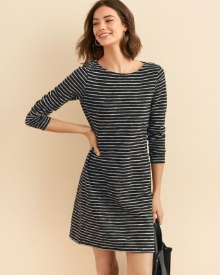 Easy Textured Cotton Knit Dress