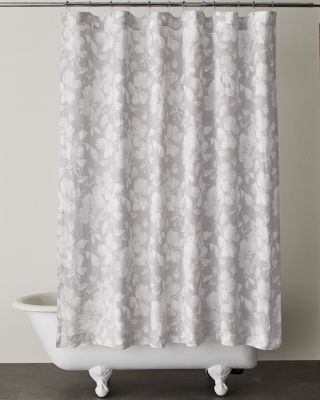Linnea Floral Relaxed-Linen Shower Curtain
