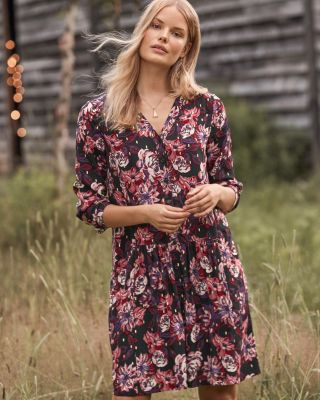 Dropwaist Button-Up Dress