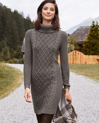 Cable-Detail Sweater Dress