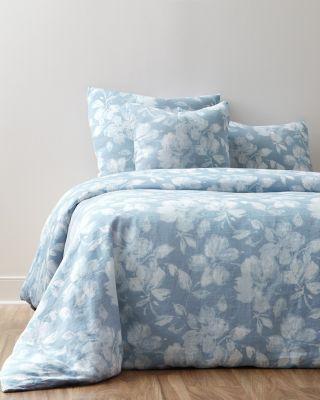 Linnea Floral Relaxed-Linen Sham