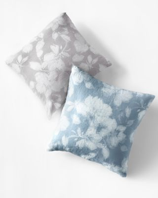 Linnea Floral Relaxed-Linen Pillow Cover