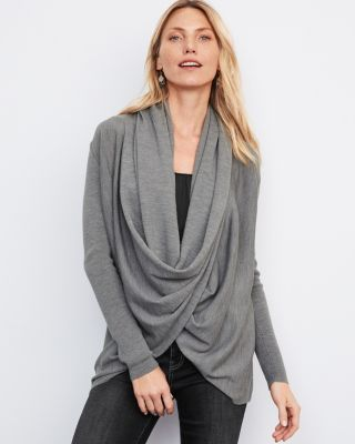 Eco Merino Wool Convertible Cardigan Sweater