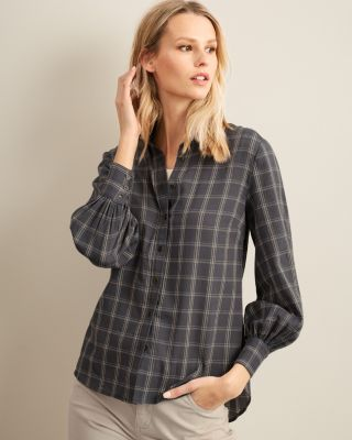 Women's Button-Down Organic Cotton Gauze Shirt