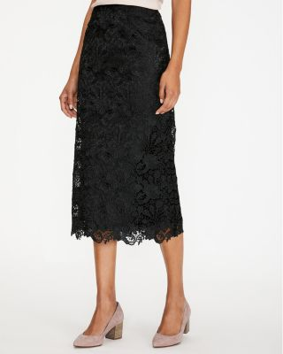 Easy Scalloped Lace Midi Skirt