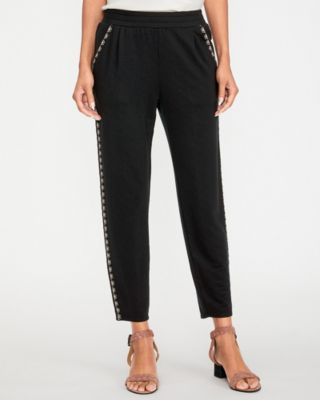 Easy Tailored Tuxedo Stripe Knit Pants