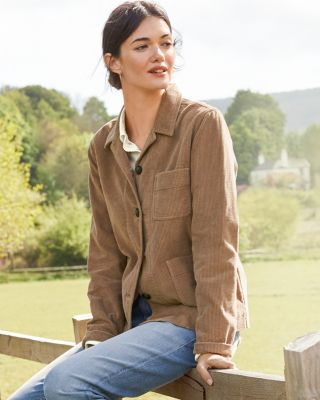 Button-Front Cotton Corduroy Jacket