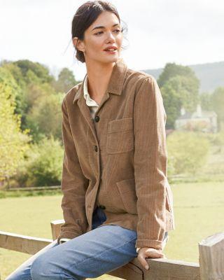 Button-Front Cotton Corduroy Jacket