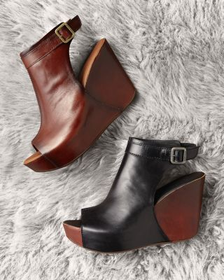 Kork-Ease Berit Peep-Toe Wedges