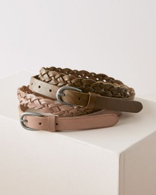 Tara Braided Italian Leather Belt