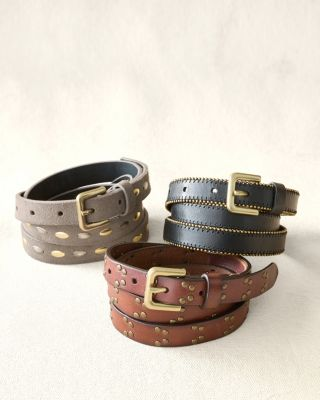 Sylvia Italian Leather Belt