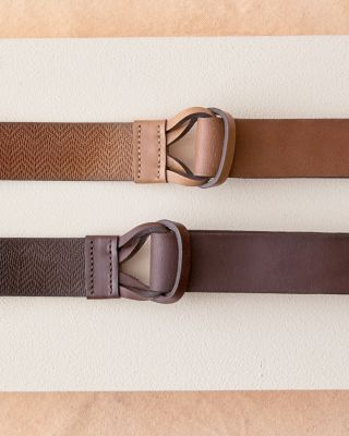 Maura Double Loop Italian Leather Belt
