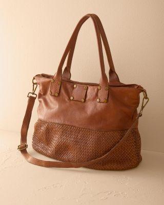 Ida Woven Italian Leather Tote Bag