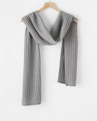 Cashmere Novelty-Stitch Scarf