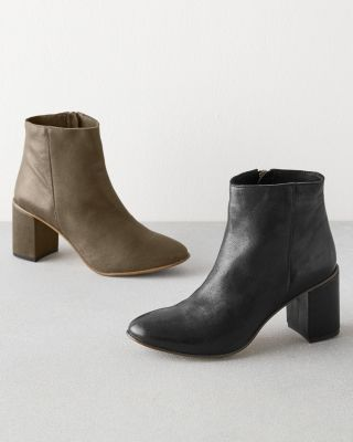 Olivia Heeled Leather Ankle Boots