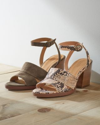 Maya Suede Ankle-Strap Block-Heel Shoes