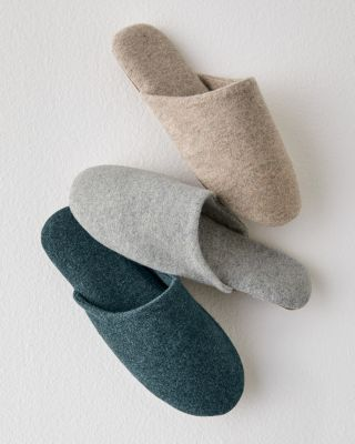 Women's Cashmere Mule Slippers