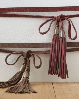 Vera Suede Two-Way Wrap Tassel Belt