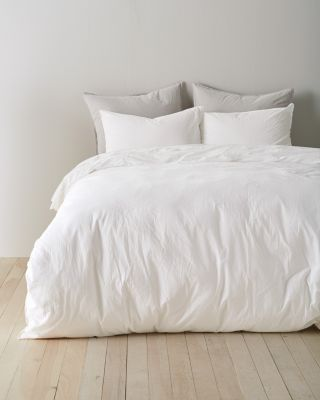 EILEEN FISHER Tumbled-Percale Duvet Cover