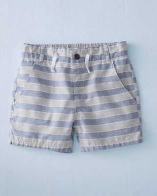Me & Henry Boys' Blue Striped Woven Shorts