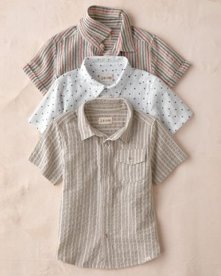 Me & Henry Boys' Short-Sleeve Woven Top