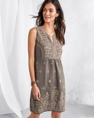 Johnny Was LA Tasya Embroidered Tank Dress
