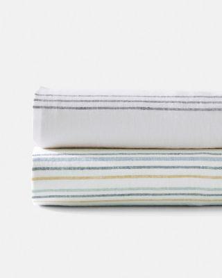 Cottage Stripe Relaxed-Linen Duvet Cover