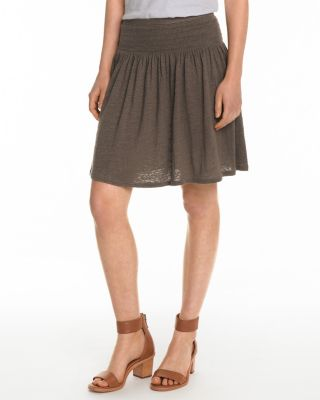 Organic-Linen Knit Smocked Skirt By Garnet Hill