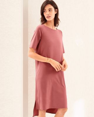 EILEEN FISHER Fine TENCEL™ Jersey Bateau-Neck Dress
