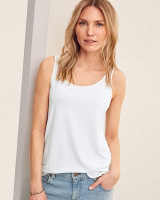 EILEEN FISHER Lightweight Viscose-Jersey Scoop-Neck Tank Top