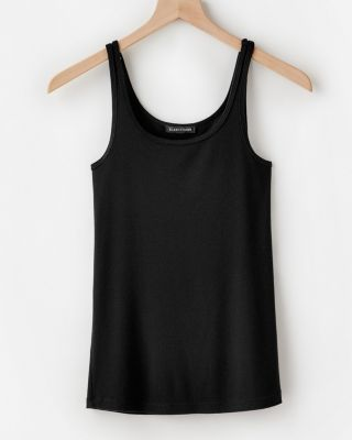 EILEEN FISHER Stretch-TENCEL Ribbed Tank Top