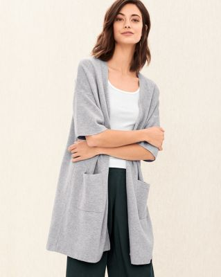 EILEEN FISHER Fine Organic Cotton and Silk Cardigan Sweater