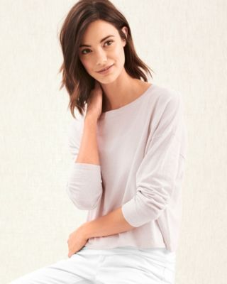 EILEEN FISHER Organic-Linen Stretch-Crepe Sweater
