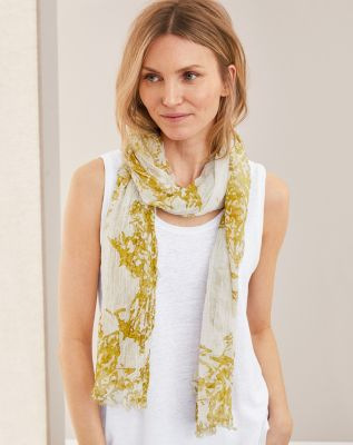 EILEEN FISHER Organic-Cotton-Gauze Printed Scarf