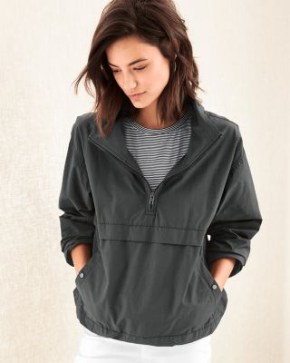 EILEEN FISHER Organic Cotton and Nylon Pullover Jacket