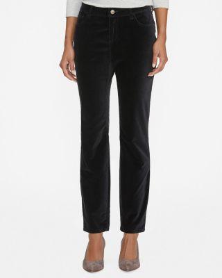 Easy Slim Velvet Pants Petite