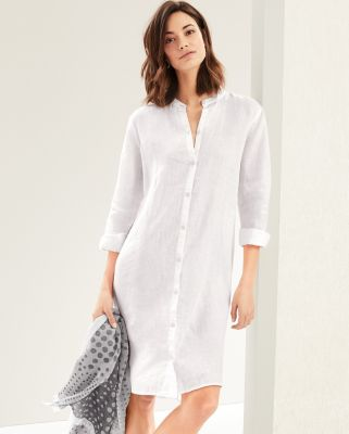 EILEEN FISHER Organic-Handkerchief-Linen Shirtdress Petite