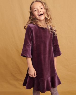 Girls' Madeline Velour Dress