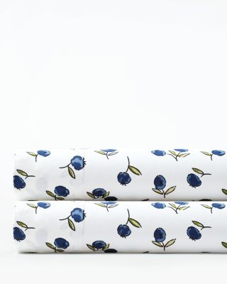 Conversational Organic-Cotton Percale Sheets