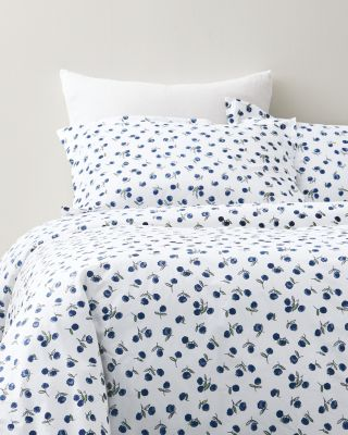 Conversational Organic-Cotton Percale Duvet Cover