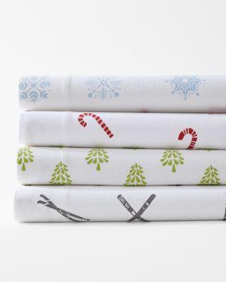 Mini-Print Flannel Pillow Cover