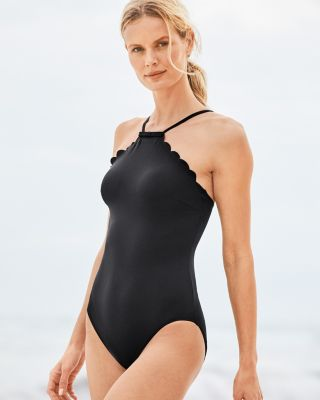 Kate Spade High-Neck Mio One-Piece Swimsuit