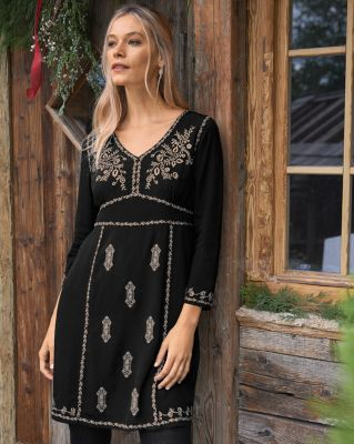 Marrakesh Embroidered Boho Dress