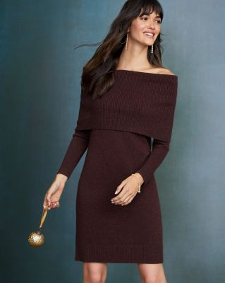 Shimmering Sweater Dress