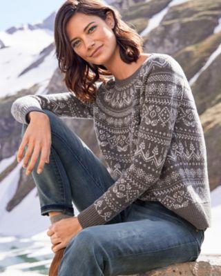 Cropped Boxy Fair Isle Sweater