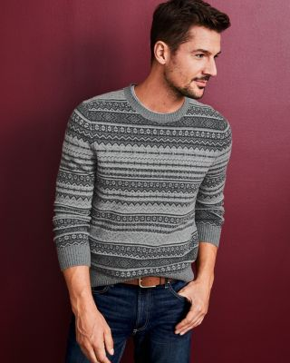 Men's Merino Jacquard Sweater