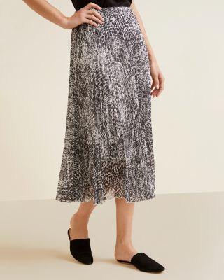 Essential Pleated Midi Skirt