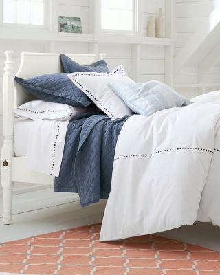 Textured-Diamond Organic-Cotton Shams